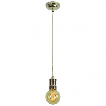 Tommy Single Pendant - Polished Nickel