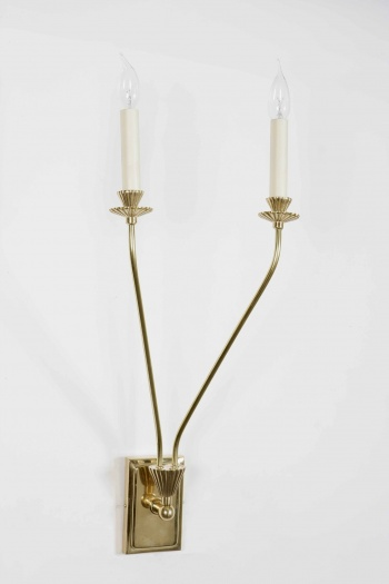 Twin Orchid Wall Sconce