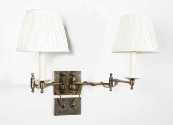 Twin Parlour Swing Arm Wall Light