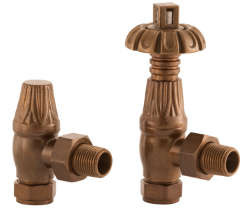 UK-18 Thermostatic Cast Iron Radiator Valve - Antique Copper