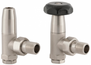 UK-5 Manual Cast Iron Radiator Valve - Brushed Nickel
