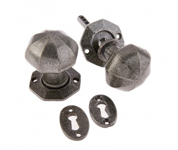 Ludlow Pewter Octagonal Mortice Knobs (Pair)