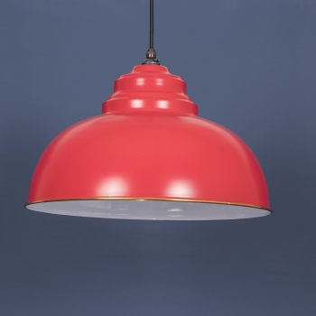 Venetian Red and White Harborne Pendant