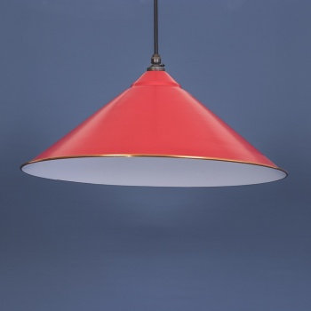 Venetian Red and White Yardley Pendant