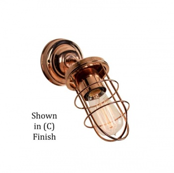 Cellar Angled Wall Light - Polished Copper