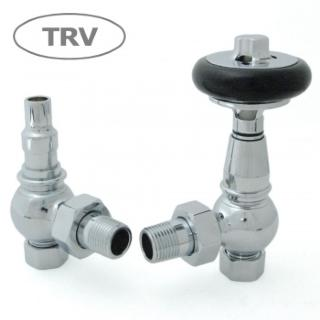 Amberley TRV Cast Iron Radiator Valve - Chrome