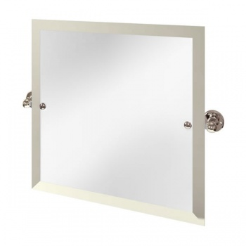 Arcade Bathrooms -Square Swivel Mirror with Nickel Plated Brass Wall Mounts