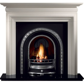 Asquith Agean Limestone Fireplace Package With Henley Cast Insert