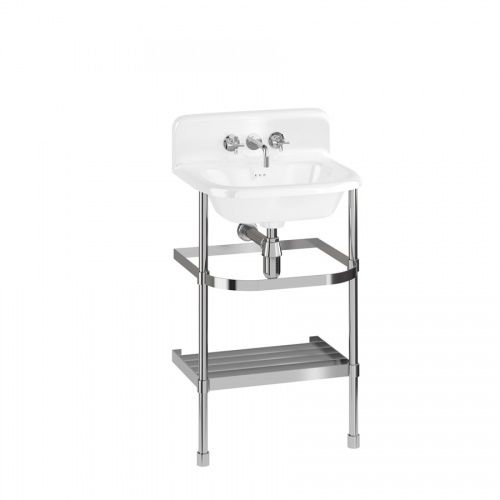 Small Roll Top Basin with Up-stand and Stainless Steel Stand
