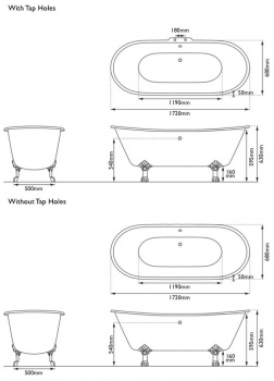 Cast Iron Baths - The Berwick