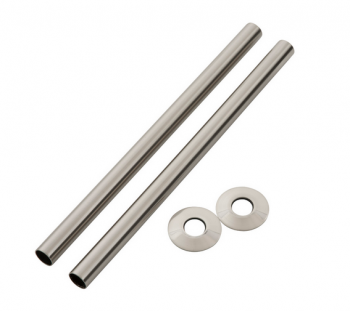 Brushed Nickel Pipe Shroud 300mm