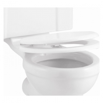 Carbamide Soft -Close White Toilet Seat