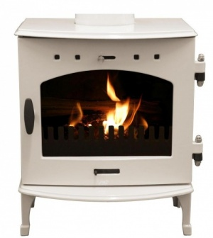 Carron Cream Enamel 4.7kW DEFRA Smoke Exempt Multifuel Stove