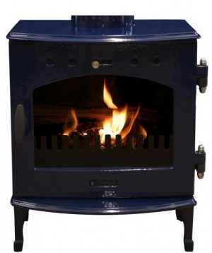 Carron Blue Enamel 4.7kW DEFRA Smoke Exempt Multifuel Stove