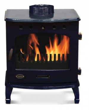 Carron Blue Enamel 7.3kW Multifuel DEFRA Smoke Exempt Stove