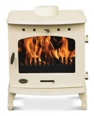 Carron Cream Enamel 7.3kW Multifuel DEFRA Smoke Exempt Stove