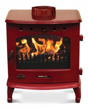 Carron Red Enamel 7.3kW Multifuel DEFRA Smoke Exempt Stove