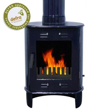 Carron Blue Enamel Dante 5kW Smoke Exempt Multifuel Stove