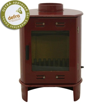 Carron Red Enamel Dante 5kW Smoke Exempt Multifuel Stove