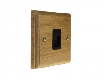 Classic 1Gang Telephone Master Socket in Solid Oak