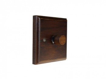 Wood 1 Gang 2Way Push on/Push off 400W/VA Dimmer Switch in Dark oak