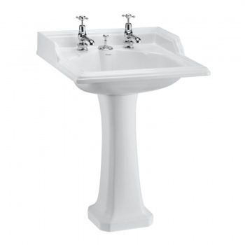 Classic 65cm Basin with Invisible Overflow and Standard Pedestal