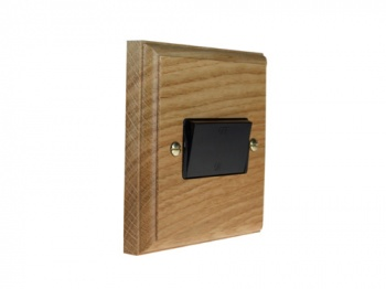 Classic 10Amp 3Pole Fan Isolator Switch in Solid Oak