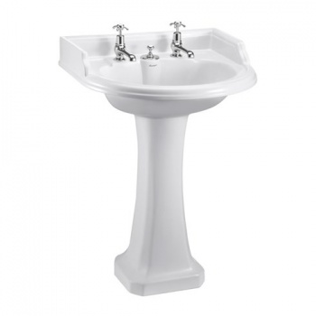 Classic round 65cm Basin with Regal Pedestal