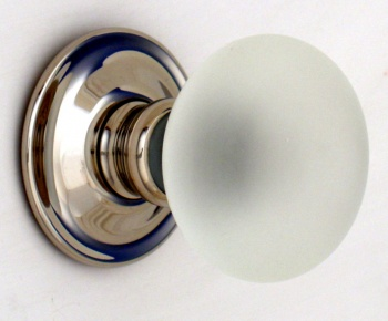Frosted Smooth Glass Door Knobs