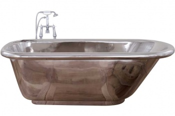 Contempo Single Slipper Nickel Bath