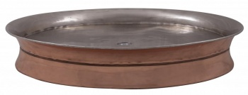 Copper Shower Tray with Nickel Interior 855mm Diameter