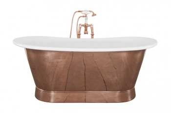 Normandy Copper Bath - Painted Interior