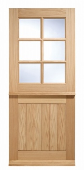 Traditional Oak External Door - Cottage Stable 6 Pane