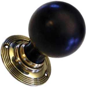 Solid Ebonised Cromwell Door Knobs