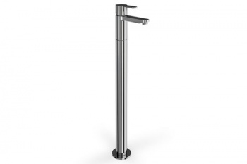 Crystal Clearwater Single Lever Bath Filler On Stand Pipe Floor Standing