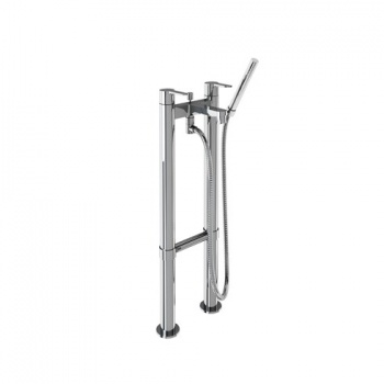 Crystal Clearwater Bath Shower Mixers On Stand Pipes Floor Standing