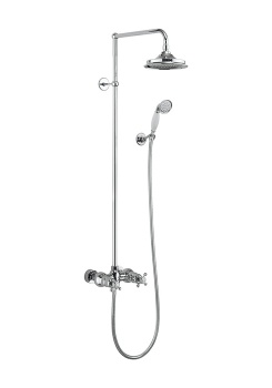 Eden Thermostatic Exposed Shower Bar Valve Two Outlet