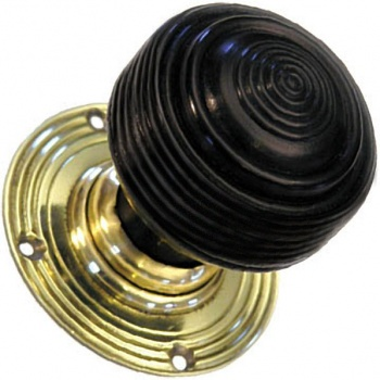 Solid Ebonised Edwardian Door Knobs