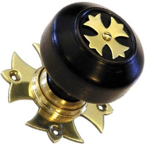 Solid Ebonised Gothic Door Knobs