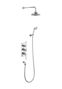 Trent Thermostatic Two Outlet Concealed Shower Valve