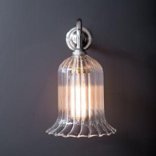Humphrey Wall Clear Ribbed Glass Light