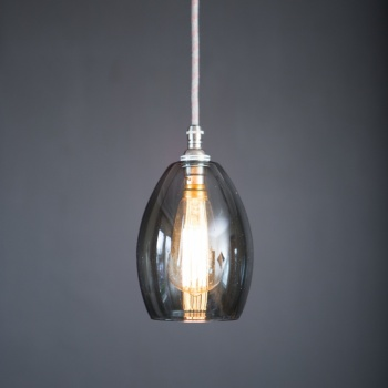 Bertie Small Smoked Glass Pendant Light