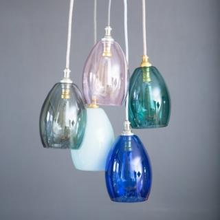 Bertie Small Cluster Coloured Glass Pendant Light