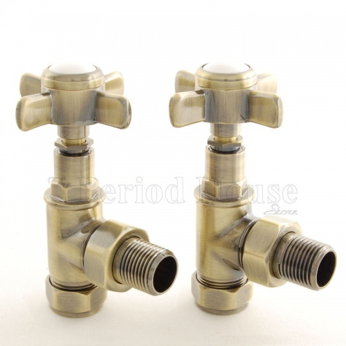Belgravia Manual Cast Iron Radiator Valves Antique Brass