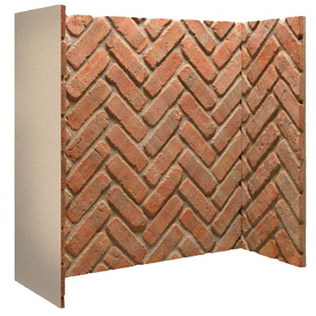 3 Piece Brick Chamber (Cobbled Red Herringbone)