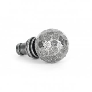 Pewter Beaten Ball Finial (Pair)