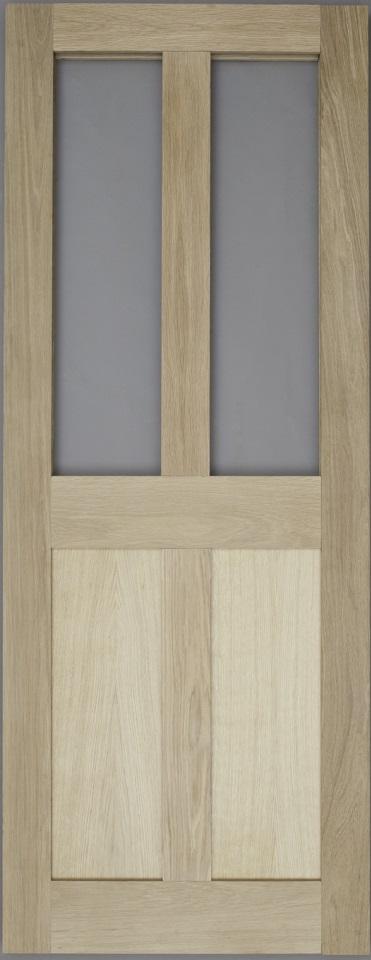 Solid Oak External Door 4 Panel Glazed