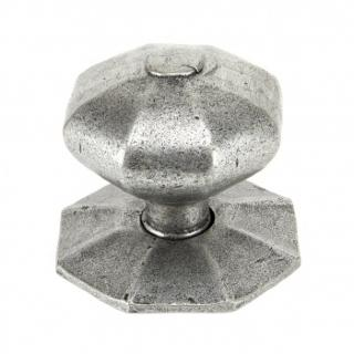 Pewter Octagonal Centre Door Knob