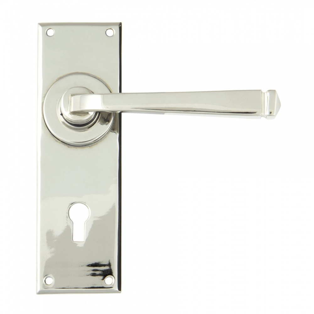 Polished Nickel Avon Lever Lock Set