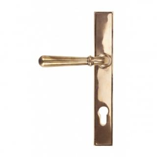 Polished Bronze Newbury Slimline Lever Espag. Lock Set